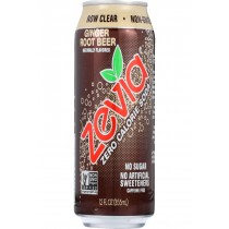 Zevia Soda - Zero Calorie - Ginger Root Beer - Can - 6/12 Oz - Case Of 4