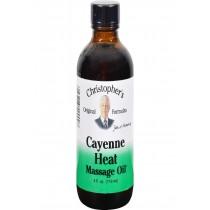 Dr. Christopher's Cayenne Heat Massage Oil - 4 Fl Oz