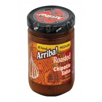 Arriba Fire Roasted Chipotle Salsa - Medium - Case Of 6 - 16 Oz.