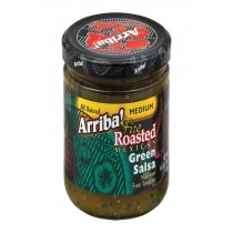 Arriba Roasted Green Salsa - Medium - Case Of 6 - 16 Oz.