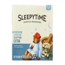 Celestial Seasonings Herb Tea - Sleepytime Extra - Case Of 6 - 40 Bag