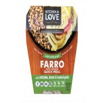 Cucina And Amore Farro - Artichoke - Lemon - Garlic - Case Of 6 - 7.9 Oz