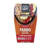 Cucina And Amore Farro - Roasted Peppers - Artichoke - Case Of 6 - 7.9 Oz