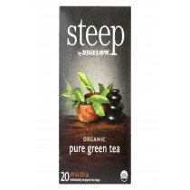 Steep By Bigelow Organic Green Tea - Pure Green - Case Of 6 - 20 Bags