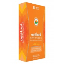 Method Dryer Sheets - Ginger Mango - Case Of 6 - 80 Count