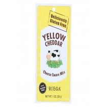 Riega Foods Yellow Cheddar - Cheese Sauce Mix - Case Of 8 - 1 Oz.