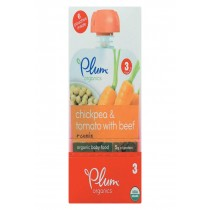 Plum Organics Stage 3 Meals Baby Food - Chickpea And Tomato With Beef + Cumin - Case Of 6 - 4 Oz.