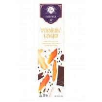 Vosges Haut-chocolat 45% Cacoa Dark Milk Chocolate Bar - Turmeric Ginger - Case Of 12 - 3 Oz
