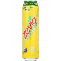 Zevia Soda - Zero Calorie - Lemon Lime Twist - Tall Girls Can - 16 Oz - Case Of 12