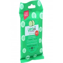 Yes To Cucumbers Facial Towelettes - Soothing - Hypoallergenic - Travel Size - 10 Count - Case Of 8