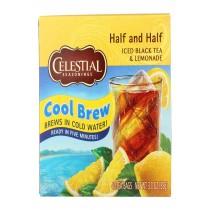 Celestial Seasonings Black Tea - Cool Brew Half And Half - Case Of 6 - 40 Bag