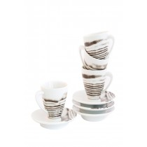Bambeco Goode Grain Porcelain Espresso Cup And Saucer - Case Of 4 - 4 Count