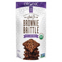 Sheila G's Organic Brownie Brittle - Pretzel And Dark Chocolate - Case Of 12 - 5 Oz.