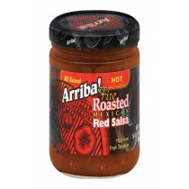 Arriba Roasted Red Salsa - Hot - Case Of 6 - 16 Oz.