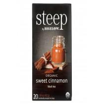 Steep By Bigelow Organic Black Tea - Sweet Cinnamon - Case Of 6 - 20 Bags