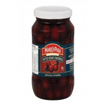 Marco Polo Sour Pitt Cherries - Case Of 12 - 24 Oz.