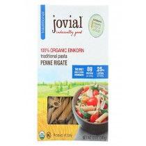 Jovial Einkorn Penne Rigate - Whole Grain - Case Of 12 - 12 Oz.