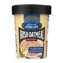Mccann's Irish Oatmeal Instant Oatmeal Cup - Vanilla Honey - Case Of 12 - 1.9 Oz