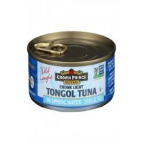Crown Prince Tongol Tuna In Spring Water - Chunk Light - Case Of 12 - 5 Oz.