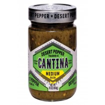 Desert Pepper Trading Salsa - Cantina - Med - Green - Case Of 6 - 16 Oz
