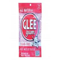 Glee Gum Chewing Gum - Wild Watermelon - Sugar Free - Case Of 6 - 75 Count