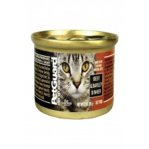 Petguard Cats Food - Beef And Barley Dinner - Case Of 24 - 3 Oz.