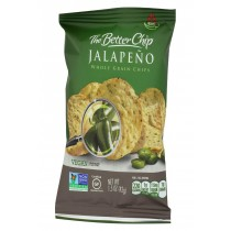 The Better Chip Whole Grain Chips - Jalapeno - Case Of 27 - 1.5 Oz.