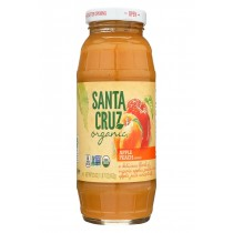 Santa Cruz Organic Apple Sauce - Peach - Case Of 12 - 23 Oz.