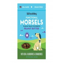 Buckley Morsels Jerky Treats - Peanut Butter - Case Of 8 - 6 Oz.