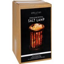 Evolution Salt Crystal Salt Lamp - Wooden Basket - 1 Count