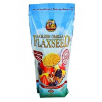 Premium Gold Flax Flaxseed - Golden Omega - True Cold Milled - 24 Oz