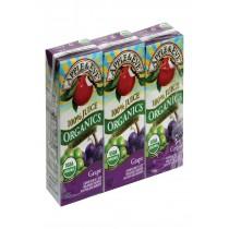 Apple And Eve Organics 100 Percent Juice - Grape - Case Of 9 - 200 Ml