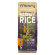 Lotus Foods Organic Rice - Brown Basmati - Case Of 6 - 30 Oz