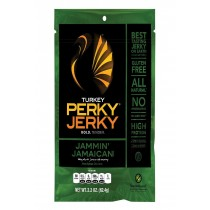 Perky Jerky Turkey - Jamaican Style - Case Of 8 - 2.2 Oz.