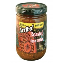 Arriba Fire Roasted Red Salsa - Medium - Case Of 6 - 16 Oz.