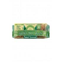 Edward And Sons Brown Rice Snaps - Tamari Seaweed - Case Of 12 - 3.5 Oz.