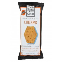 Food Should Taste Good Cheddar Tortilla Chips - Cheddar - Case Of 12 - 5.5 Oz.