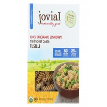 Jovial Gluten Free Brown Rice Pasta - Fusilli - Case Of 12 - 12 Oz.