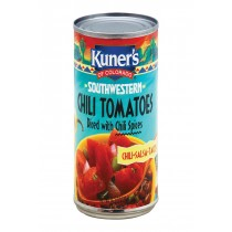 Kuner Diced Tomatoes - Chili Spices - Case Of 12 - 14.5 Oz.