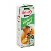 Manischewitz Broth Vegetable Aseptic - Case Of 12 - 32 Fl Oz.