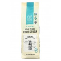 One Degree Organic Foods Sprouted Brown Rice Flour - Organic - Case Of 6 - 24 Oz.