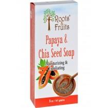 Roots And Fruits Bar Soap - Papaya And Chia Seed - 5 Oz
