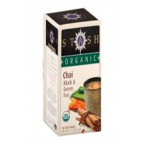 Stash Tea Organic Chai Black And Green Tea - Case Of 6 - 18 Bags