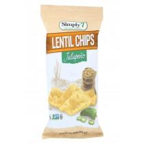 Simply 7 Lentil Chips - Jalapeno - Case Of 12 - 4 Oz.