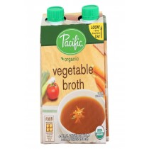 Pacific Natural Foods Vegetable Broth - Organic - Case Of 6 - 8 Fl Oz.