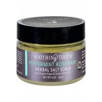 Soothing Touch Scrub - Organic - Salt - Herbal - Peppermint Rosemary - 10 Oz