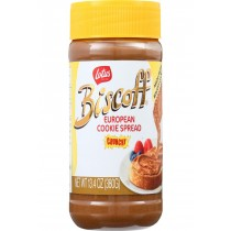 Biscoff Cookie Butter Spread - Peanut Butter Alternative - Crunchy - 13.4 Oz - Case Of 8