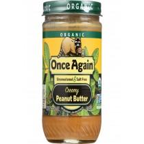 Once Again Peanut Butter - Organic - Creamy - No Salt - 16 Oz - Case Of 12