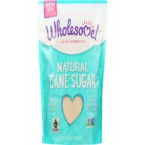 Wholesome Sweeteners Sugar - Natural Cane - Fair Trade - 1.5 Lbs - Case Of 12