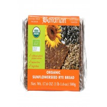 Genuine Bavarian Organic Bread - Sunflower Seed Rey - Case Of 6 - 17.6 Oz.